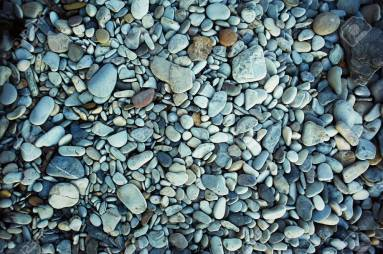 The texture of sea pebbles. stones to the , close