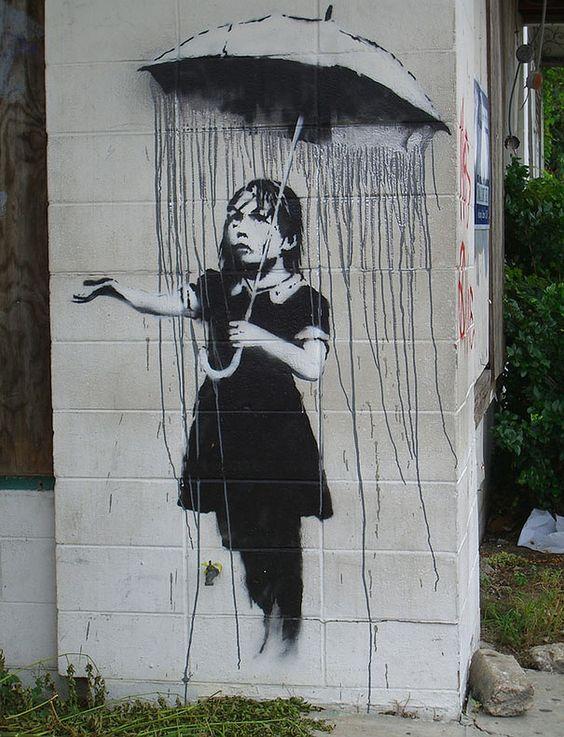 New Orleans Banksy Umbrella Girl